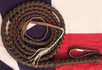 20 foot 4 plait Dark Brown Leather INDIANA Jones Stunt BULLWHIP BULL WHIP Whips