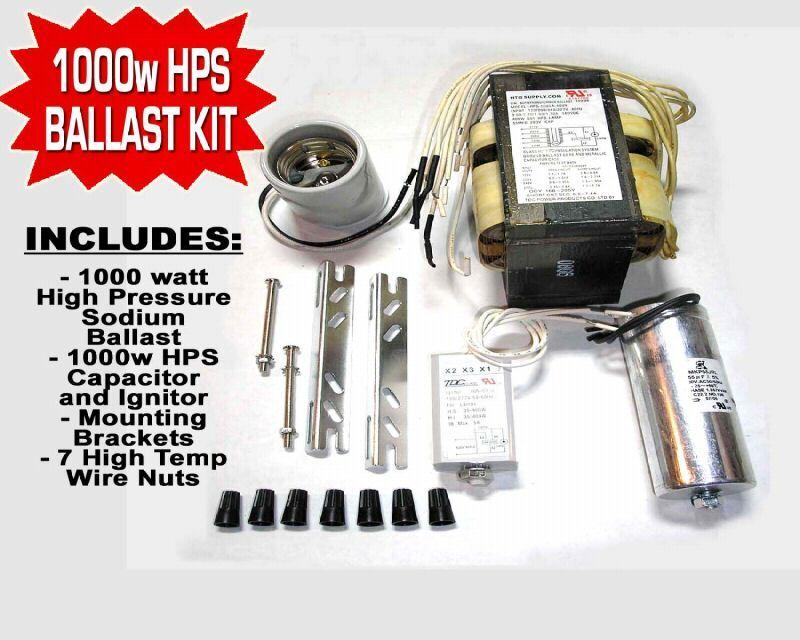 HPS Grow Light BALLAST KIT 1000 w 1000w High Pressure Sodium