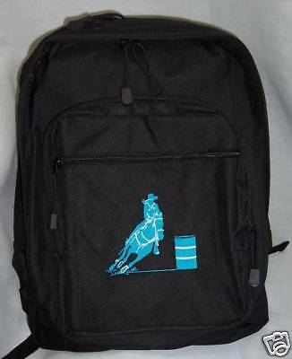 Barrel Racing Racer Turquoise Backpack Horse Bookbag