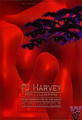 PJ HARVEY WARFIELD POSTER Ben Harper  ORIGINAL BILL GRAHAM BGP131 Craig Howell