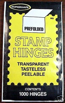SuperSafe Stamp Hinges ( Lowest Price Available )  -  Free USA Shipping