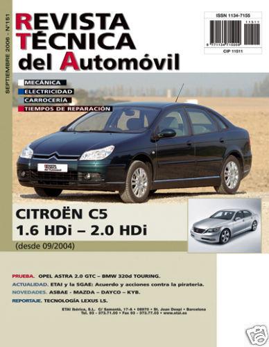 Manual De Taller Citroen C5 1 6 Y 2 0 Hdi