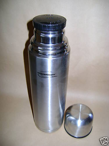 New Thermos Thermocafe Stainless Steel Flask 1ltr 1 Litre