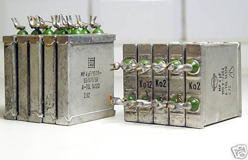 8x Mp-Kondensator 4 Μf / 160V For Audio