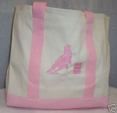 Barrel Racing Racer Pink Tote Bag Horse Rodeo Western
