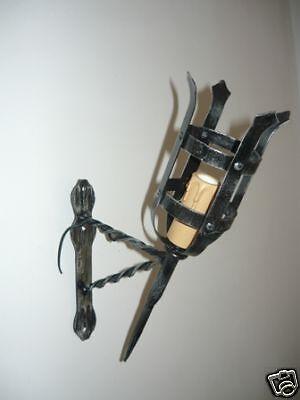 Applique Lampada a parete Torcia medioevo in ferro